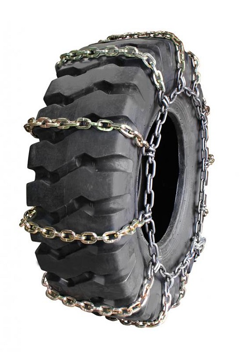 square 2-link grader tire chains