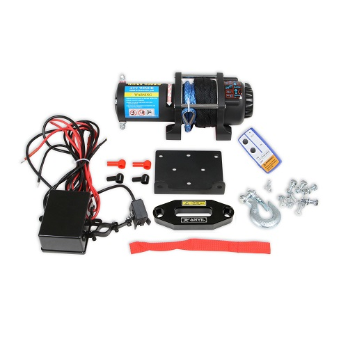 Winch Kit 4,500lb Universal With Synthetic Rope