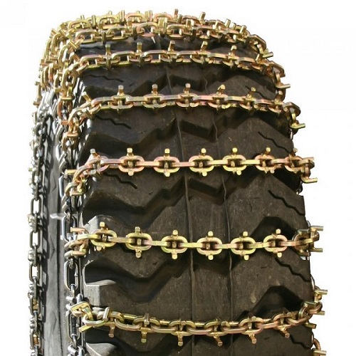 square u-grip 2-link alloy grader tire chains