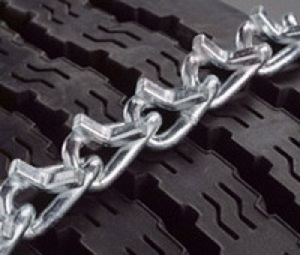 tire chain v-bar design