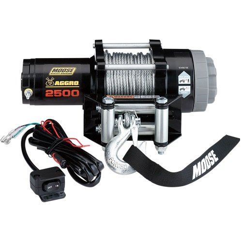 Winch Kit 2,500lb Aggro Cable/Synthetic Rope - Moose
