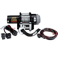 Winch Kit 3,500lb Aggro Cable/Synthetic Rope - Moose