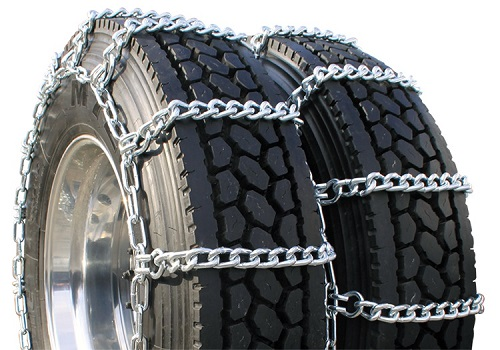 Dual mud service truck tire chains