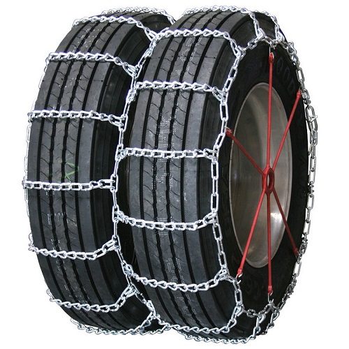 truck tire chains highway service dual non-cam