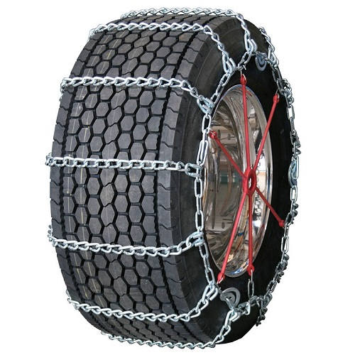 Semi Truck Tire Chains - Wide Base With Cam