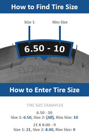 how to find and enter your forklift tire size