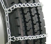 semi/commercial truck v-bar single snow tire chains