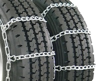 semi/commercial truck highway dual snow tire chains