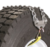 Emergency Truck Chain With Link Fastener and 2 Cross Chains