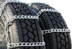 semi/commercial truck mud dual snow tire chains