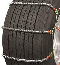 semi/commercial truck wide base cobra cable snow tire chains