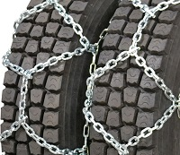 semi/commercial truck qualtrax 7mm alloy rallye dual snow tire chains