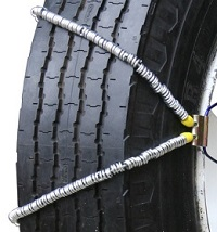 semi/commercial truck volt v-cable single snow tire chains