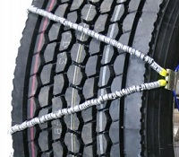 semi/commercial truck wide base v-cable alloy snow tire chains