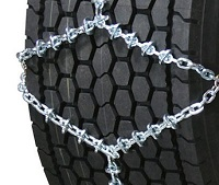 semi/commercial truck wide base 5.5mm polar-s alloy tire chains