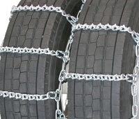semi/commercial truck v-bar dual snow tire chains non-cam