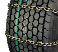 semi/commercial truck wide base 7mm lightweight alloy highway service with cam snow tire chains