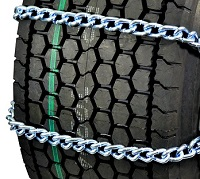 semi/commercial truck wide base 10mm mud service twist link non-cam tire chains