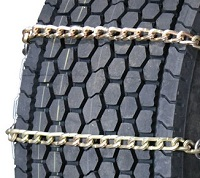 semi/commercial truck wide base twisted square link alloy snow tire chains