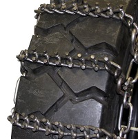 Heavy Duty 2-Link Studded 8mm Alloy tire chains