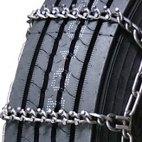 Forestry semi/commercial truck studded link alloy 7mm single snow tire chains