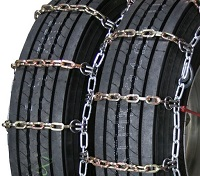 semi/commercial truck heavy duty square link alloy dual snow tire chains