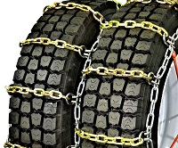 semi/commercial truck heavy duty square link alloy single non-cam snow tire chains