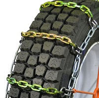 semi/commercial truck heavy duty square link alloy single snow tire chains