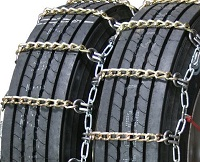 semi/commercial truck highway twisted square link alloy dual snow tire chains