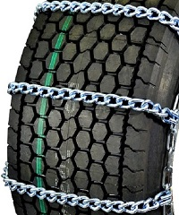 truck tire chains wide base mud service twist link non-cam