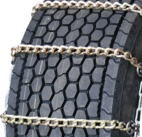truck tire chains wide base square link alloy with cam