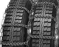 semi/commercial truck v-bar dual snow tire chains