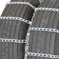highway service dual truck tire chains non-cam