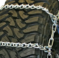truck tire chains wide base v-bar non-cam