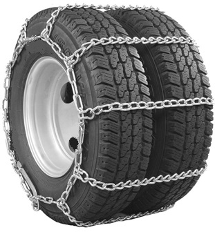 Semi Truck Tire Chains - Wide Base / Dual Mount Dual