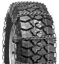 truck tire chains wide base/dual mount