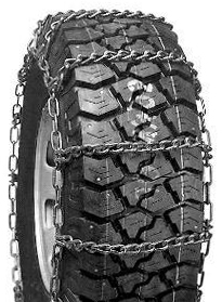 Semi Truck Tire Chains - Wide Base / Dual Mount Single